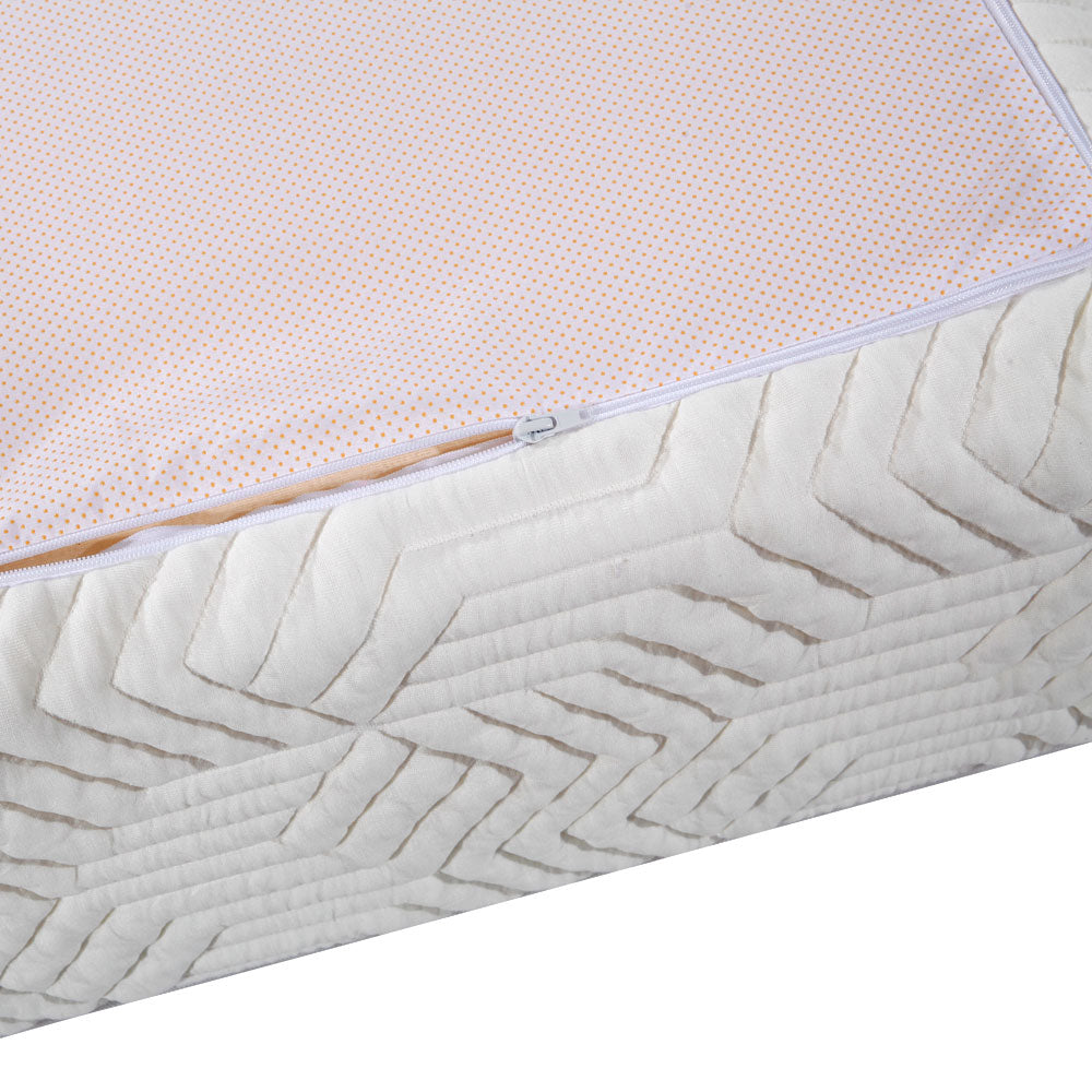 "10"" Three Layers Cool Medium High Softness Cotton Mattress with 2 Pillows (Twin Size) White 