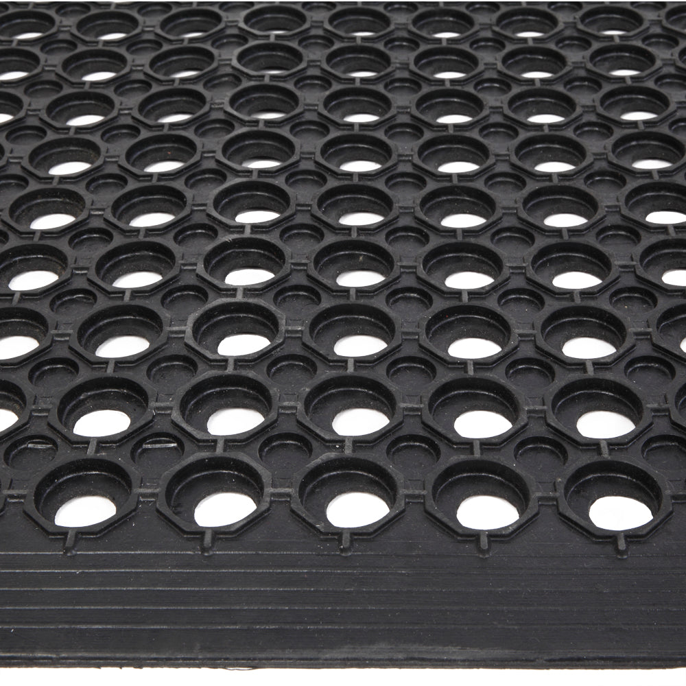 Bar Kitchen Industrial Multi-functional Anti-fatigue Drainage Rubber Non-slip Hexagonal Mat 150*90cm | 56392233