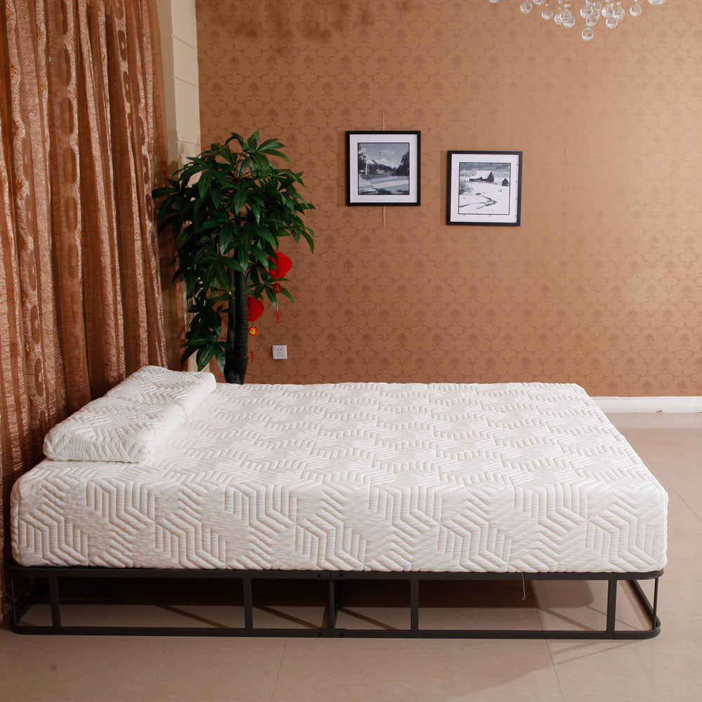 "10"" Four-Layer COOL Medium Firm Memory Cotton Mattress with Two Pillow Punches 