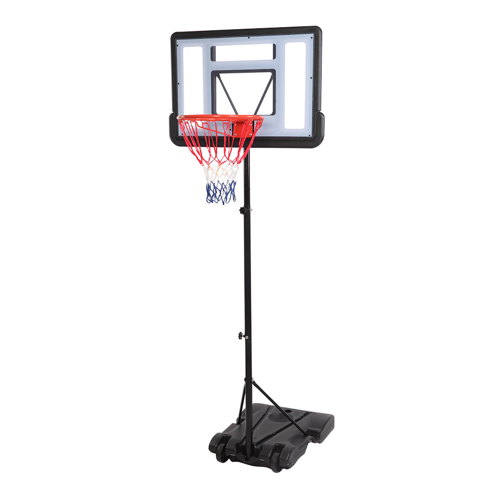 [HY] HY-B03S Portable Removable Basketball System Basketball Hoop Teenager PVC Transparent Backboard with 1.6m-2.1m Adjustable-Height Pole Maximum Applicable 7# Ball | 51787165