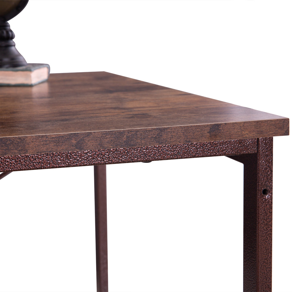 (120 x 60 x 75cm) Industrial Style Three Layers Table Black Walnut Color | 51643362