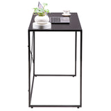 (100 x 50 x 75cm) Simple Crossing Student Table Black | 43947381