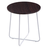 (48 x 48 x 52) cm Sofa / Coffee Table Round Table Dark Brown Desktop | 02031705