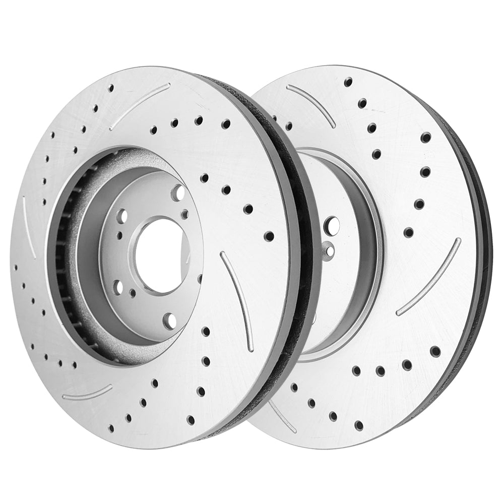 1 Set /2 BD125674 31275 Streaking Front Brake Disc Silver | 76810185