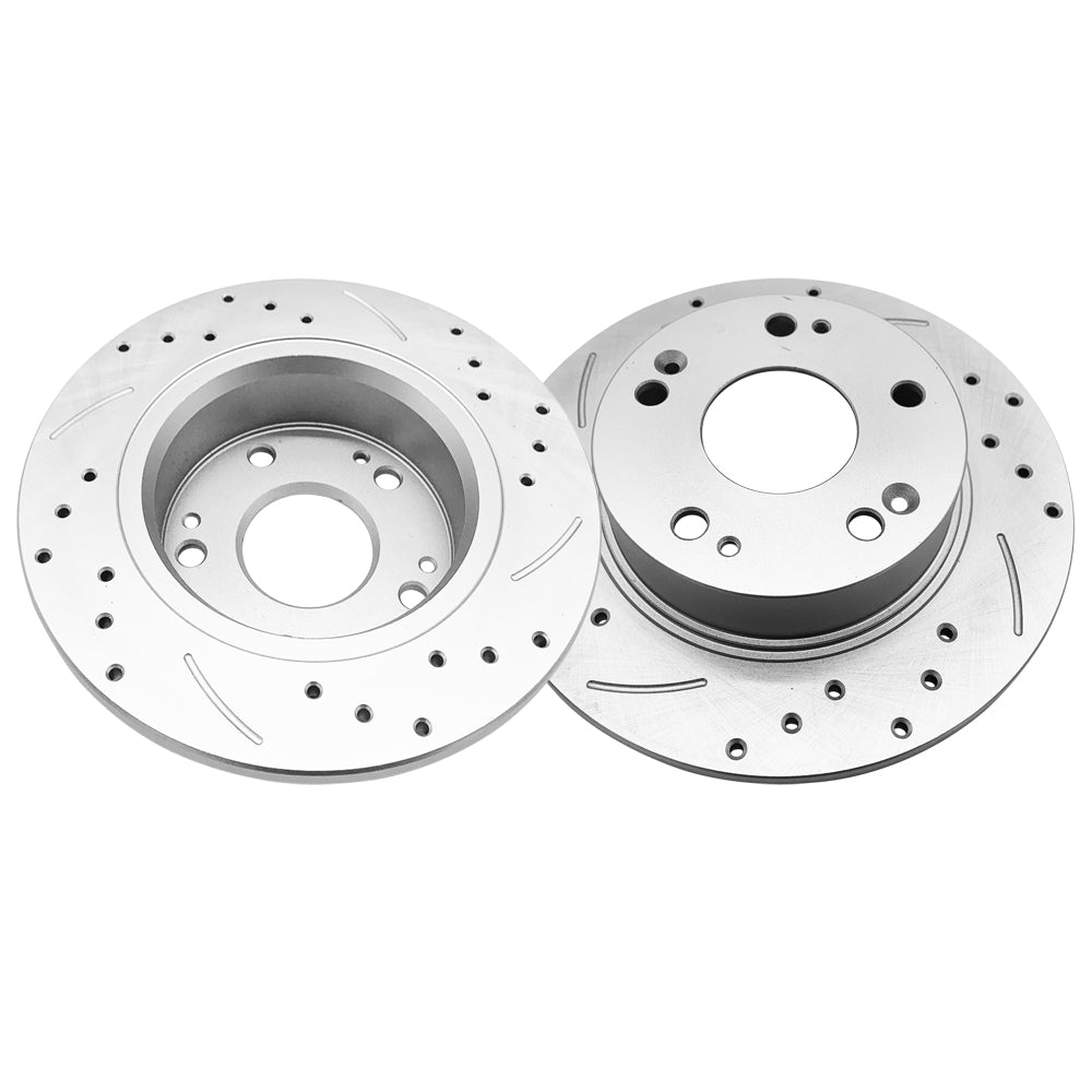 1 Set /2 BD126082 31315 Streaking Rear Brake Disc Silver | 81400286