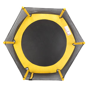 "60"" Round Outdoor Trampoline with Enclosure Netting 