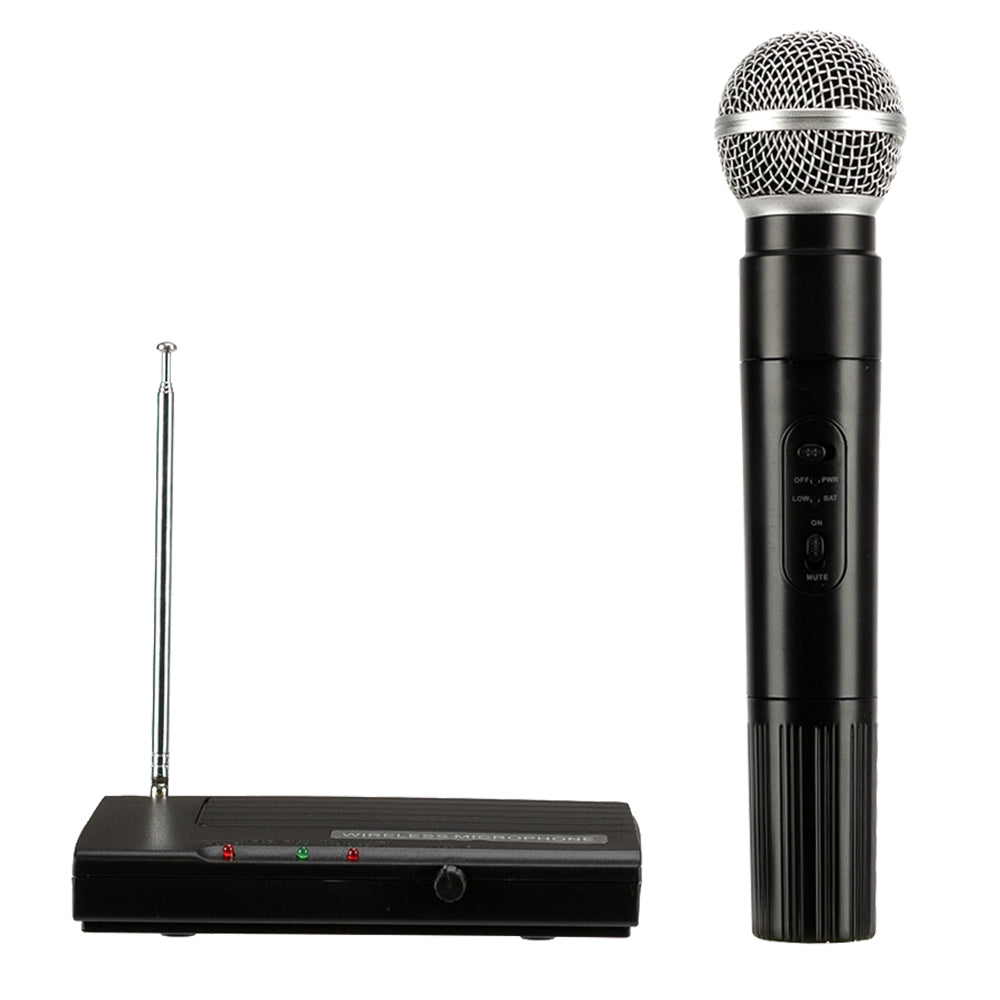 SH-200 VHF Wireless Microphone System Dual Handheld 1 x Mic Cordless Receiver Black | 19896906