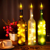 10x Warm Wine Bottle Candle Shape String Light 20 LED Night Fairy Lights Lamp | 07878690