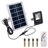 10W 4500LM 20-LED White Light IP65 Waterproof LED Solar Flood Light with Remote Control Black | 78809319