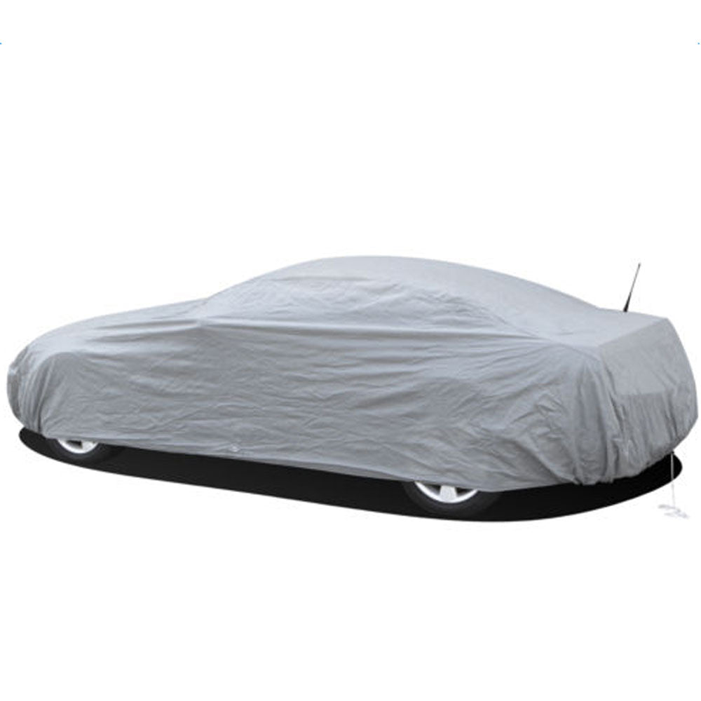 Weatherproof PEVA Car Protective Cover with Reflective Light Silver Gray S | 23576061