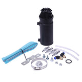 140mL Round Oil Catch Tank Double hole Oil Catch Tank with Air Filter Black | 94437106