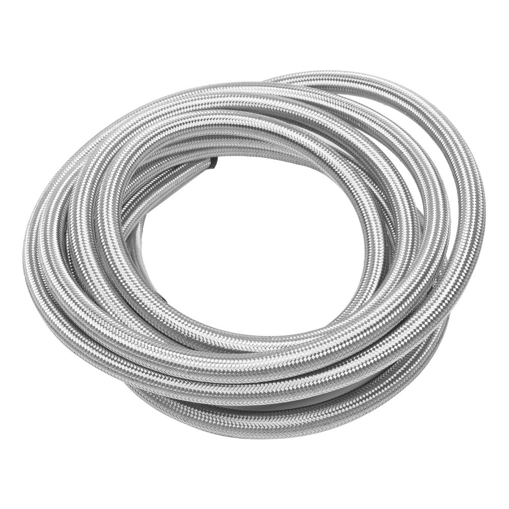 10AN 20-Foot Universal Stainless Steel Braided Fuel Hose Silver | 32150580