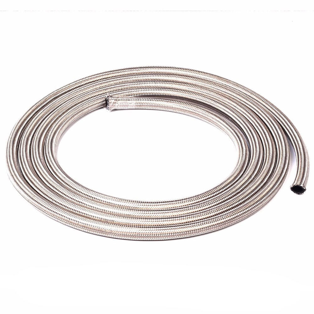 8AN 10Ft General Type Stainless Steel Braided Fuel Hose Silver | 95220666