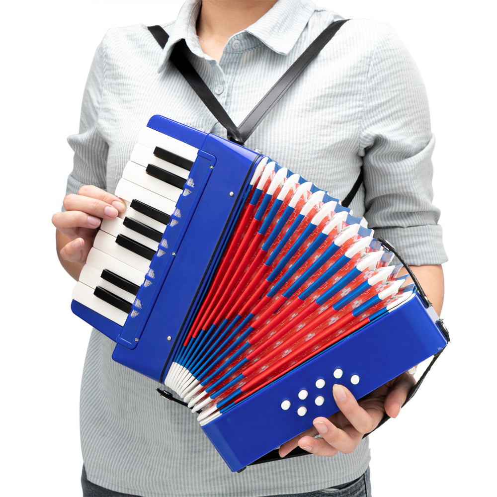 17-Key 8 Bass Kids Accordion Children's Mini Musical Instrument Easy to Learn Music Blue | 76421852