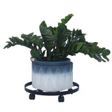 "14"" Metal Plant Caddy Heavy Duty Iron Potted Plant Stand with Wheels 