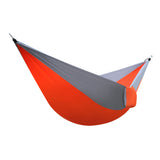 AT6737 Nylon Parachute Fabric Double Hammock Orange & Gray | 61650971
