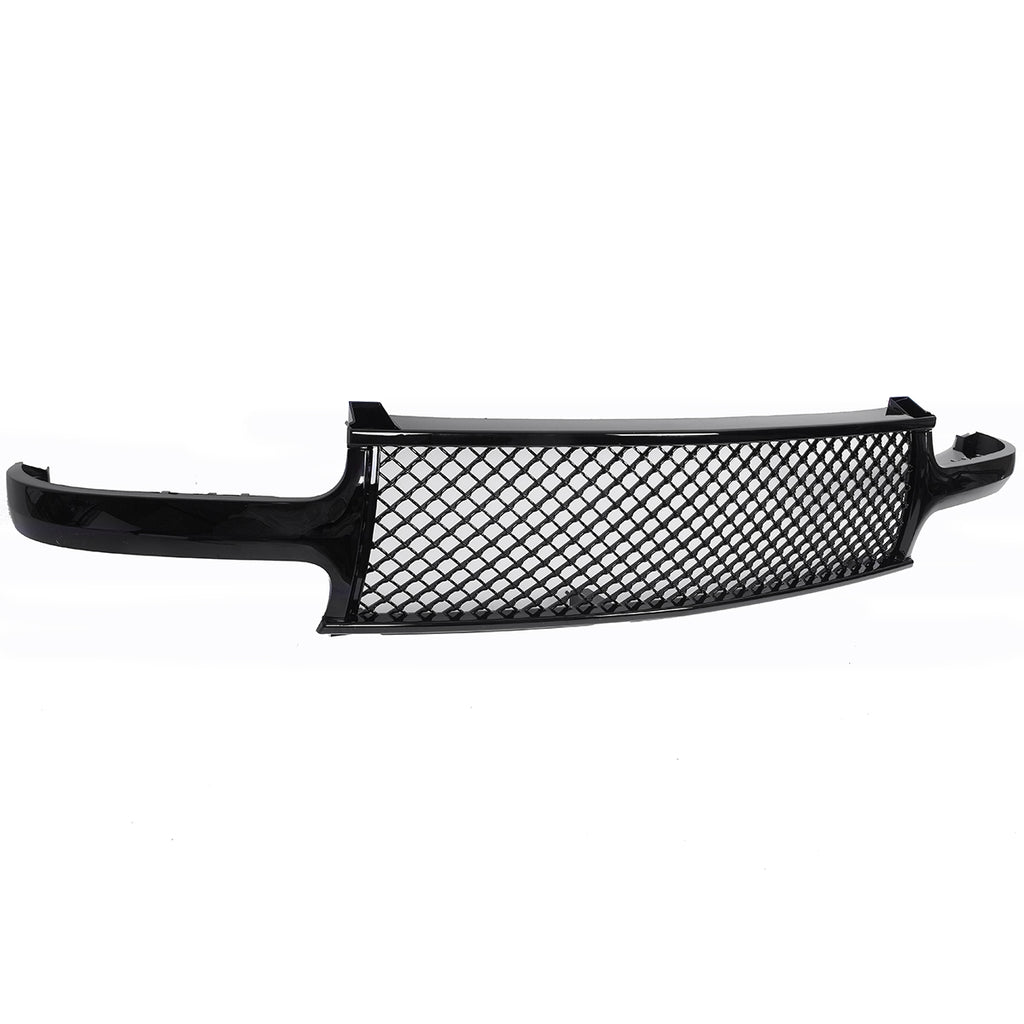 ABS Plastic Car Front Bumper Grille for1999-02 Chevy Silverado/2000-2006 Suburban/Tahoe Coating QH-CH-003 Black | 03981908