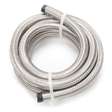 8AN 10-Foot Universal Stainless Steel Braided Fuel Hose Silver | 51521291