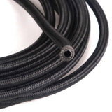 12AN 10ft Universal Stainless Steel Nylon Braided Fuel Hose Black | 91189808