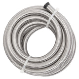 8AN 16-Foot Universal Stainless Steel Braided Fuel Hose Silver | 40697380