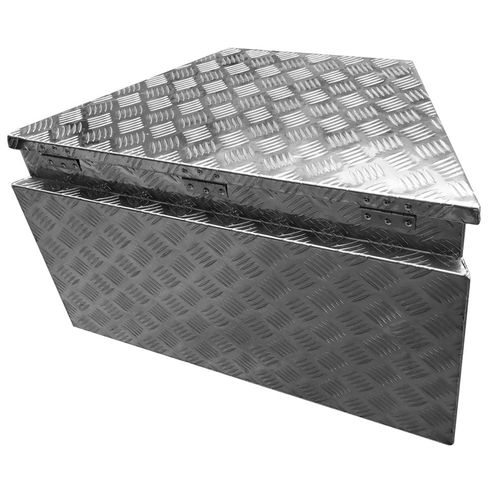 83(39) *49*46 Truck Bed Underbody Aluminum Tool Box with Keys 5 Tendon Pattern Aluminum Plate | 53629229