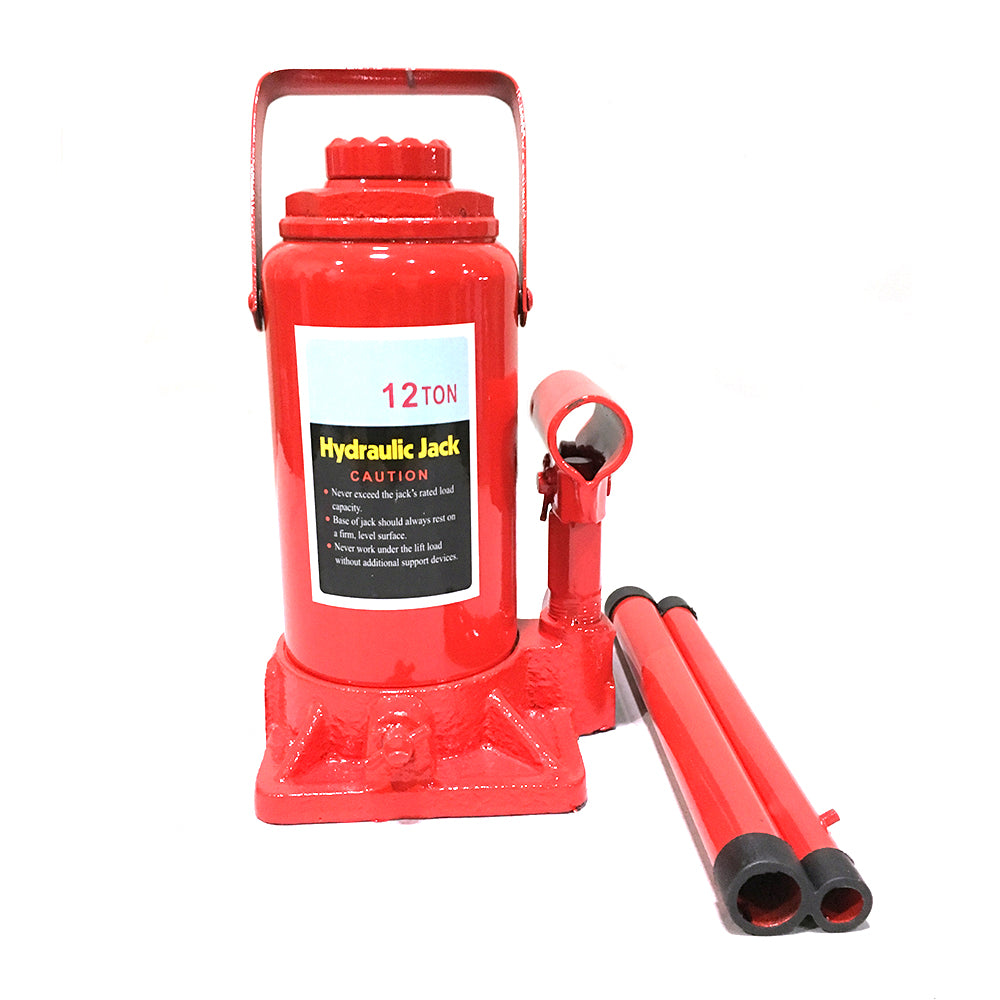12 Ton Hydraulic Bottle Jack Red | 95393948