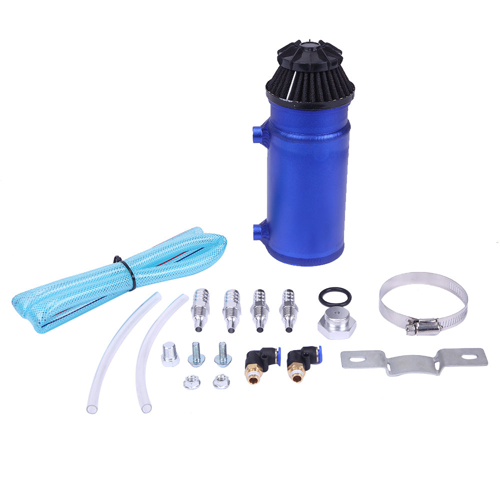 140mL Round Oil Catch Tank Double hole Oil Catch Tank with Air Filter Blue | 30892778