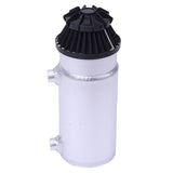 140mL Round Oil Catch Tank Double hole Oil Catch Tank with Air Filter Sliver | 01206141