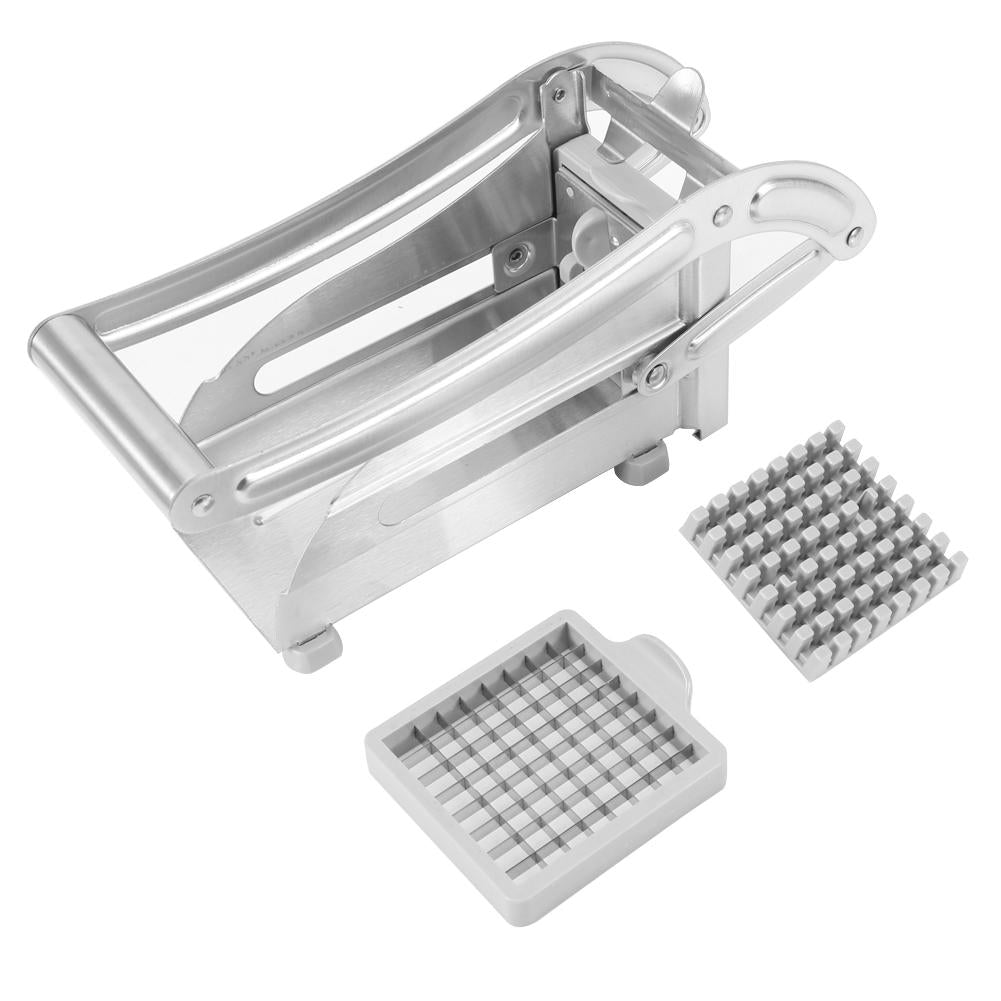 Stainless Steel French Fry Cutter Potato Vegetable Slicer Chopper Dicer 2 Blades | 89045654