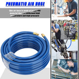 15M Blue Flexible Pneumatic PVC Hose with Quick Connector for Air Compressor | 59029587