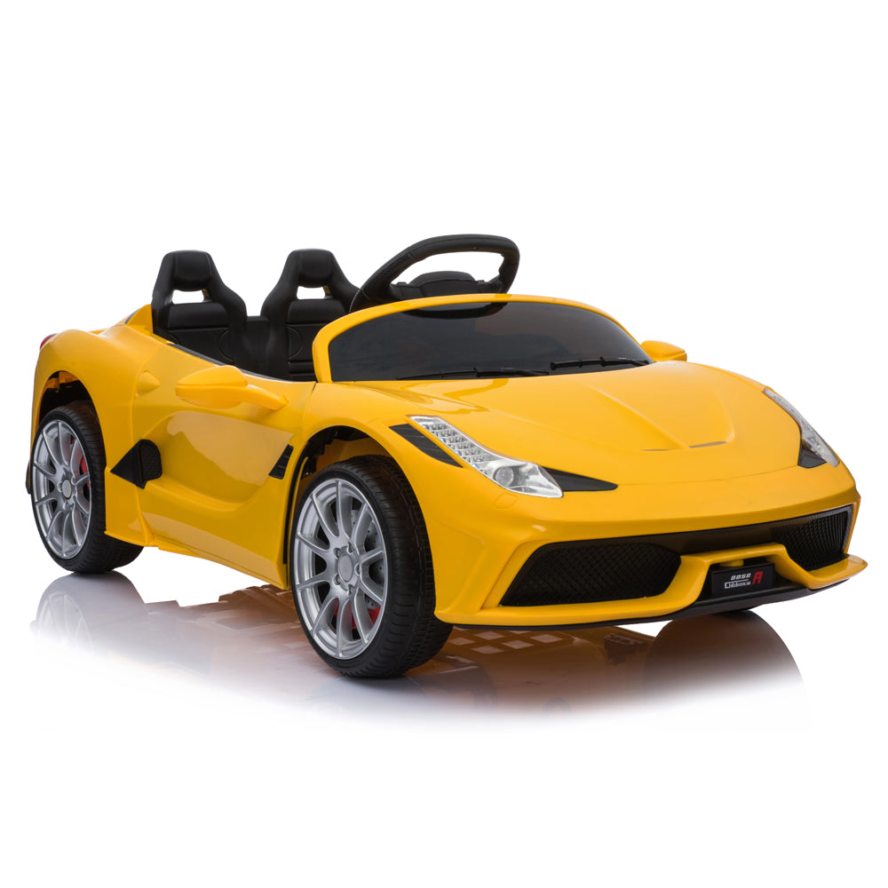 12V Kids Ride On Sports Car 2.4GHZ Remote Control Yellow | 63759001