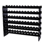 Wooden Stackable Modular Wine Rack Storage Stand Display Shelves, Wobble-Free?Black | 08261143