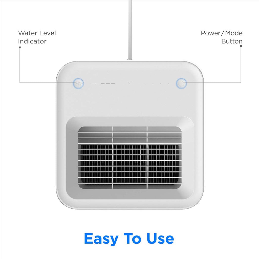 smartmi Cool Mist Humidifiers for Bedroom, Evaporative Room Humidifiers for Bedroom, 4L Top Fill Smart Humidifiers for Baby Kids, Baby Humidifiers No-Mist Whisper-Quiet Operation, APP Control | 01222177