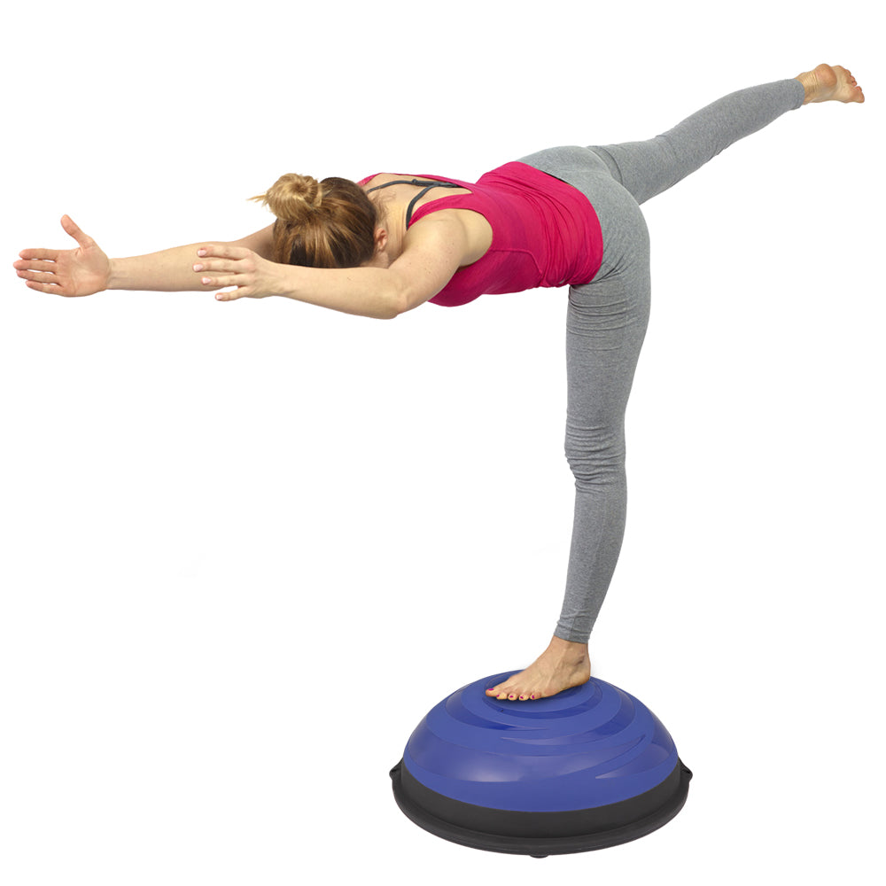Gym Office Home Fitness Balance Hemisphere Yoga Ball Cyclone Blue | 26949577