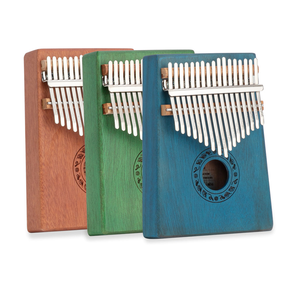 17 Keys Kalimba Thumb Piano Mahogany wood for Kids Adult Beginners Natural | 17035070