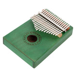 17 Keys Kalimba Thumb Piano Mahogany wood for Kids Adult Beginners Green | 73555630