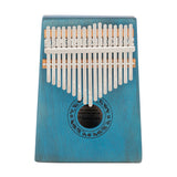 17 Keys Kalimba Thumb Piano Mahogany wood for Kids Adult Beginners Blue | 30075117