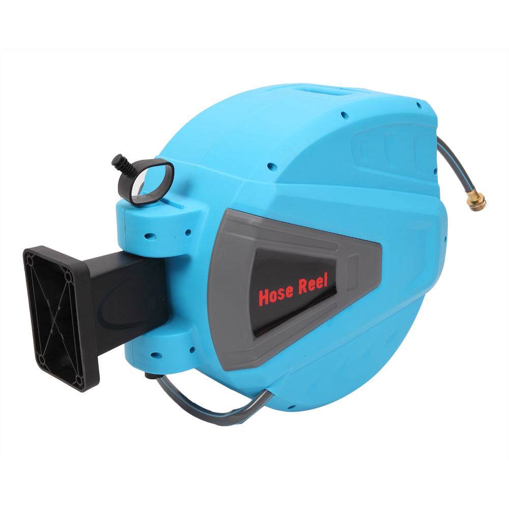 100' Retractable Water Garden Hose Reel Auto Wall Mounted W/Spray Gun | 09350387