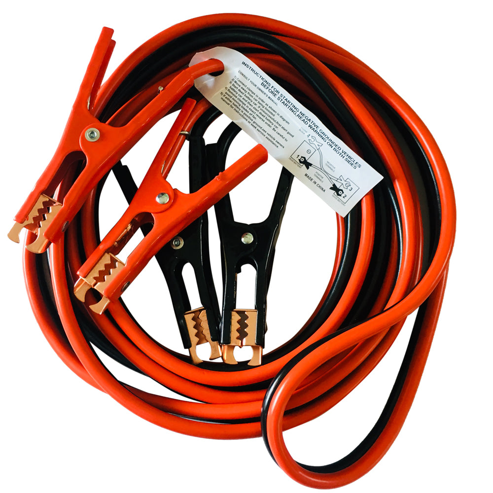 16 FT 6 Gauge Battery Jumper Heavy Duty Power Booster Cable Emergency Car Truck 300 AMP | 60751757