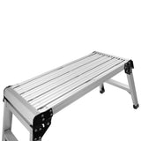 Aluminum Platform Drywall Step Up Folding Work Bench Stool Ladder | 45873833