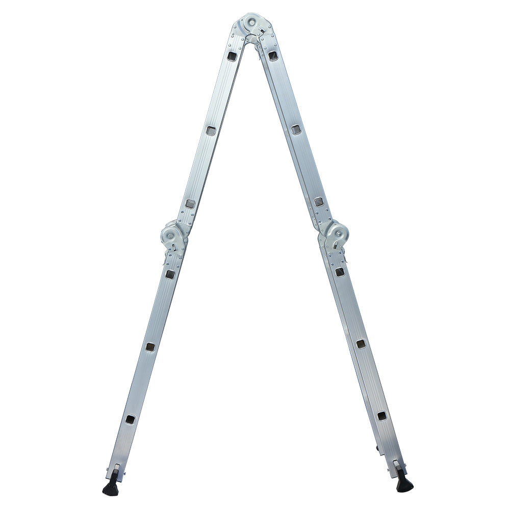 12.2 ft Folding Ladder Aluminum Multi Purpose Extension Ladders Building Supplie | 90952135