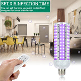 110V 60W Wireless Remote Control Ultraviolet Uv Corn Germicidal Lamp 168 Lamp Beads (Blue Light) Intelligent Remote Control (Timeable) Color: White (Actual Power 35W)  | 38510099