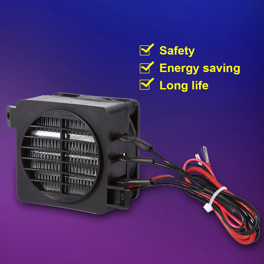 100W 12V Energy Saving PTC Car Fan Air Heater Constant Temperature Heating Element Heaters | 48371416