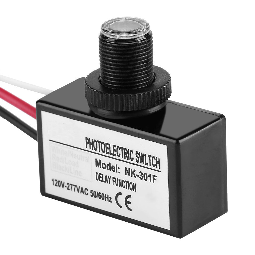 120V-277VAC Light Sensor Control Automatic On/Off Photoelectric Switch for Lighting Fixtures | 29503731