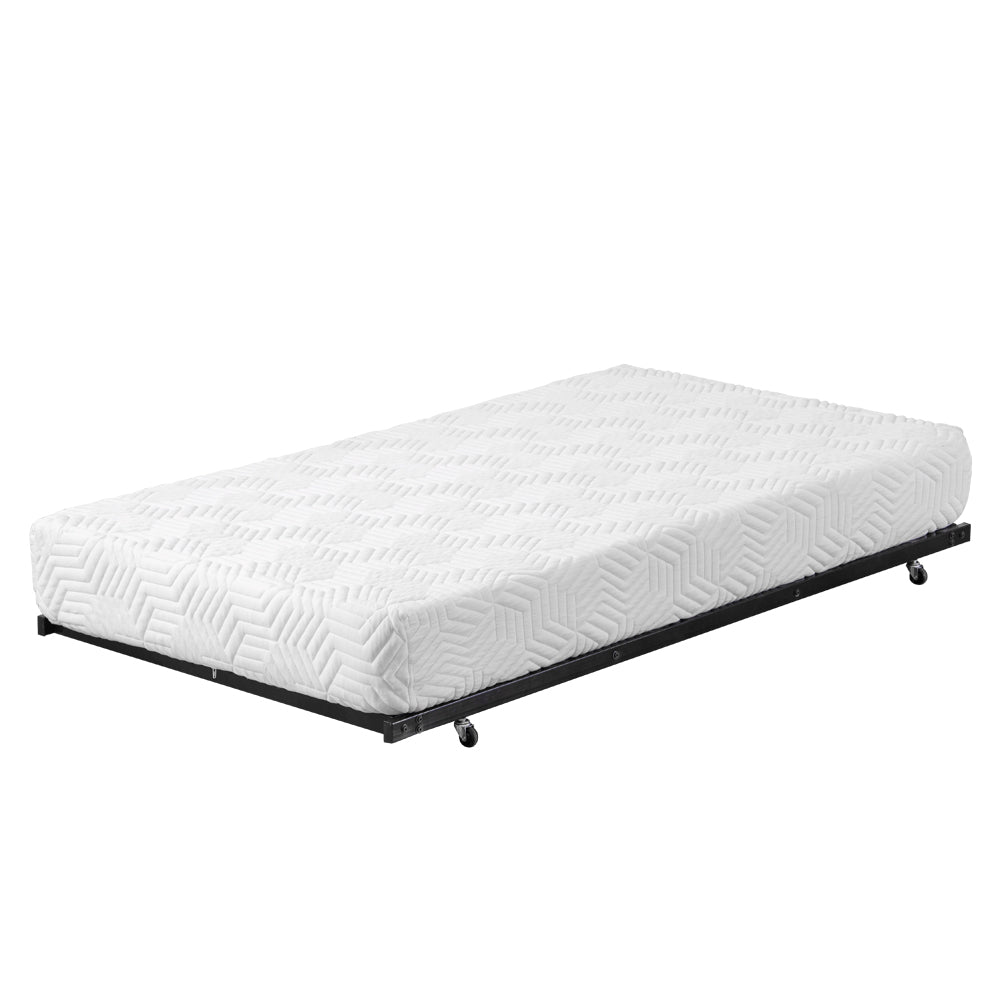 Square Tube Trundle and Bed Black Twin | 63569711