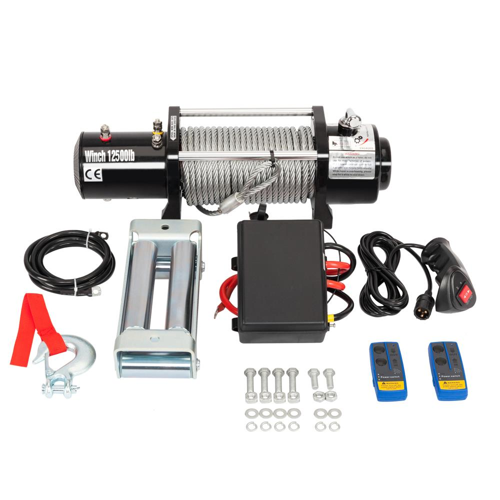 12500LBS 12V Electric Recovery Winch Truck SUV Durable Remote Control | 64974311