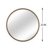 Artisasset Antique Gold metal circular frame indoor iron wall mounted plane mirror | 34838398