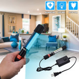 110V Portable 7W Ultraviolet UV Disinfection Lamp Power Cord Length 1.1M US Regulations Black | 18140123