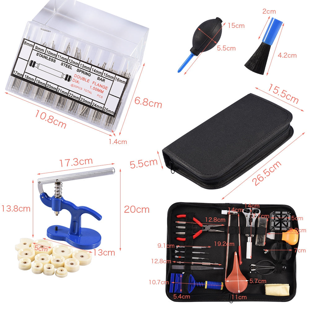 Watch Repair Tool Kit Case Opener Hand Remover Spring Bars Case Press | 35462220