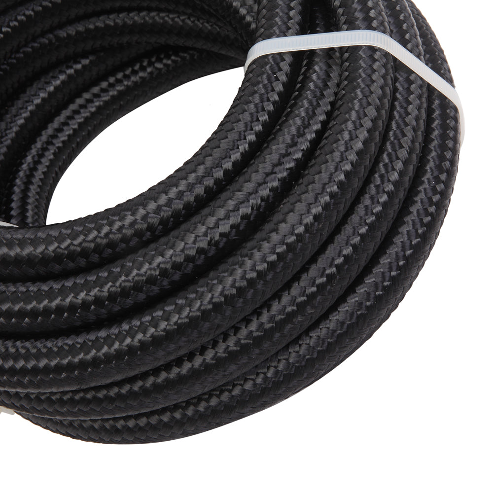 8AN 16-Foot Universal Stainless Steel Braided Fuel Hose Black | 77674390